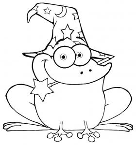 Coloring page frogs to print