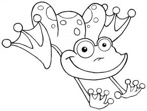 Coloring page frogs for children