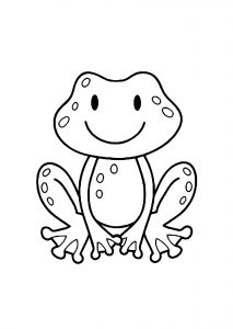 Coloring page frogs to color for children