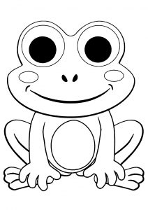 Coloring page frogs to print for free
