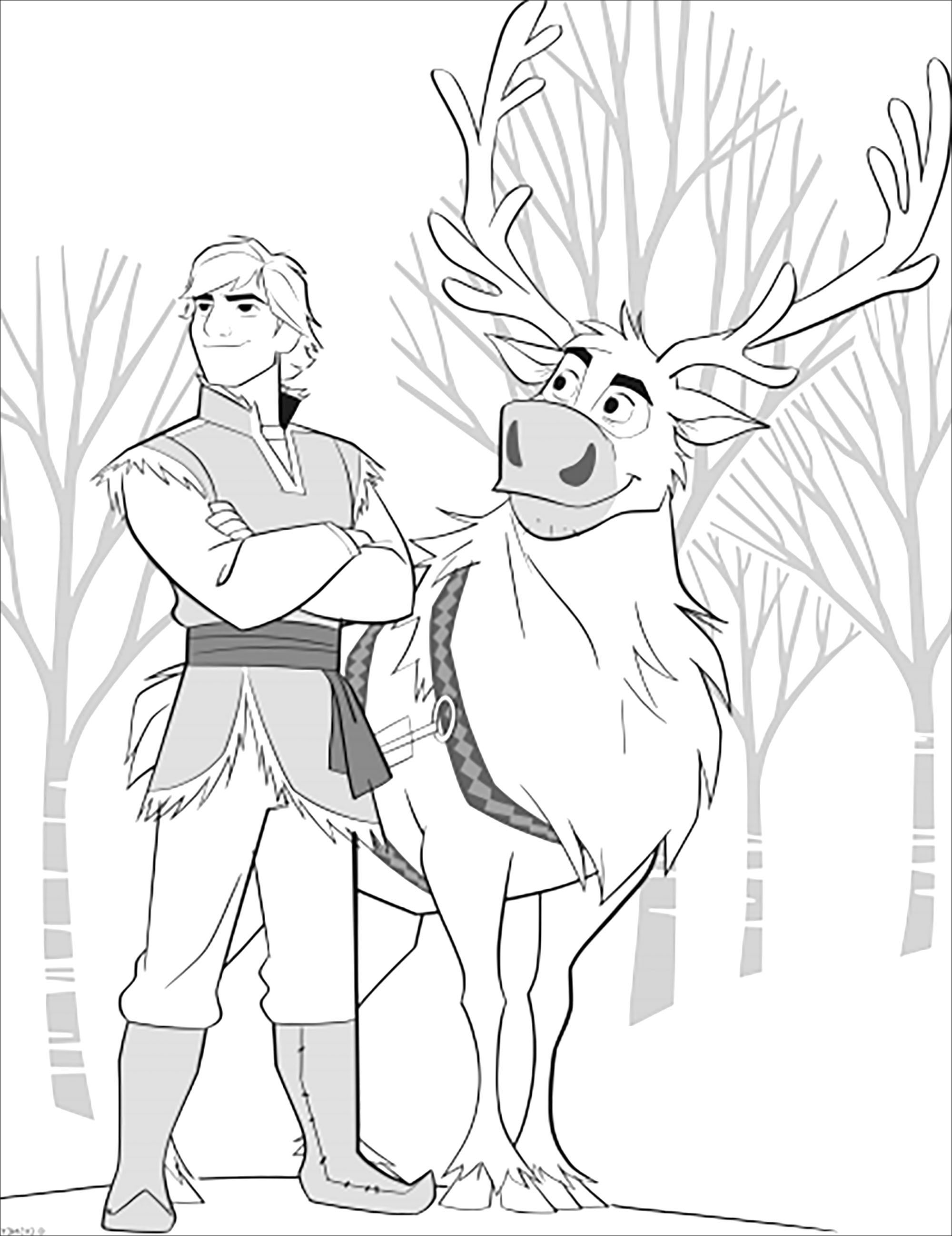 Frozen 2 Sven Kristoff Without Text Frozen 2 Kids Coloring Pages