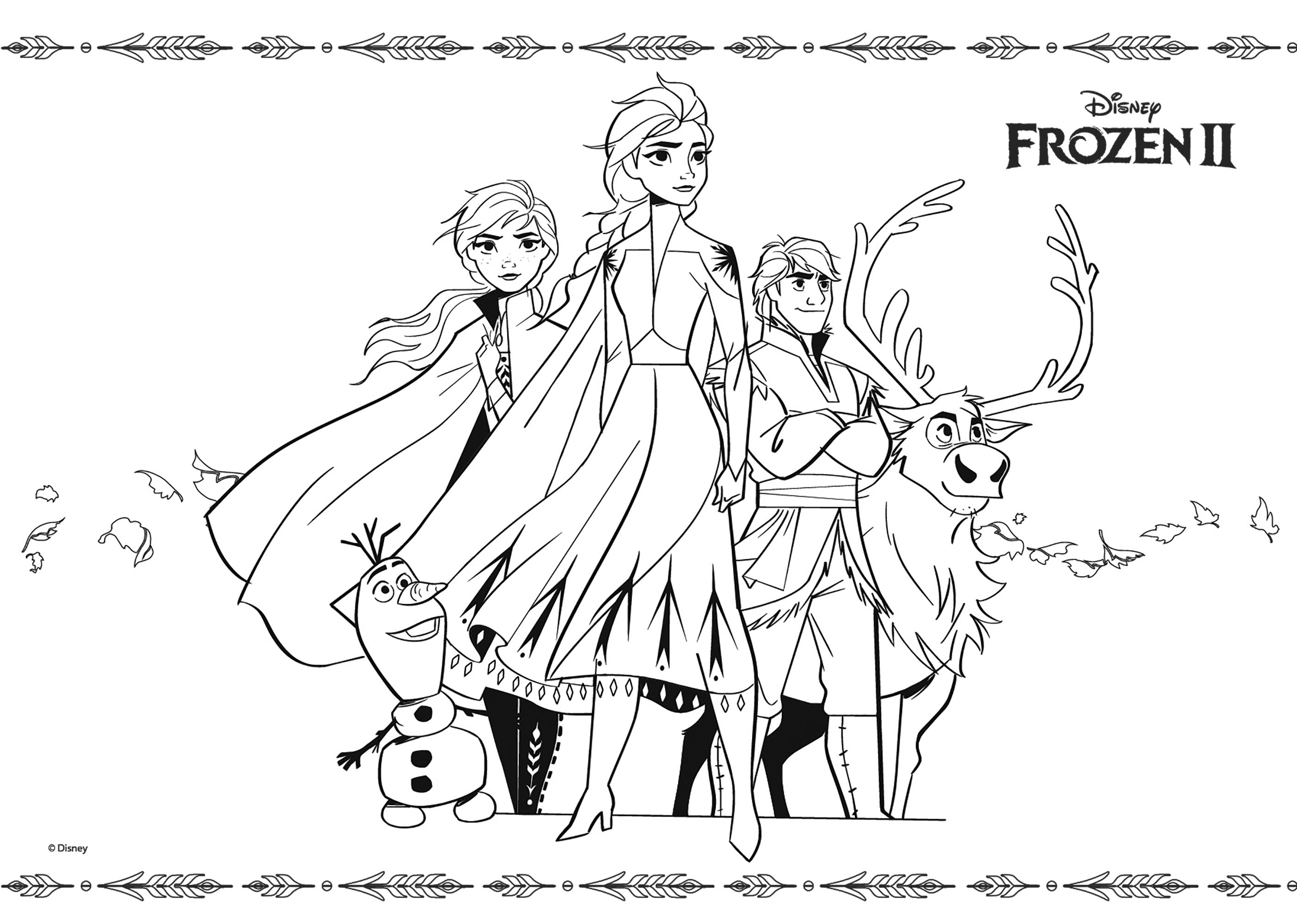 Frozen 2 To Color For Children Frozen 2 Kids Coloring Pages