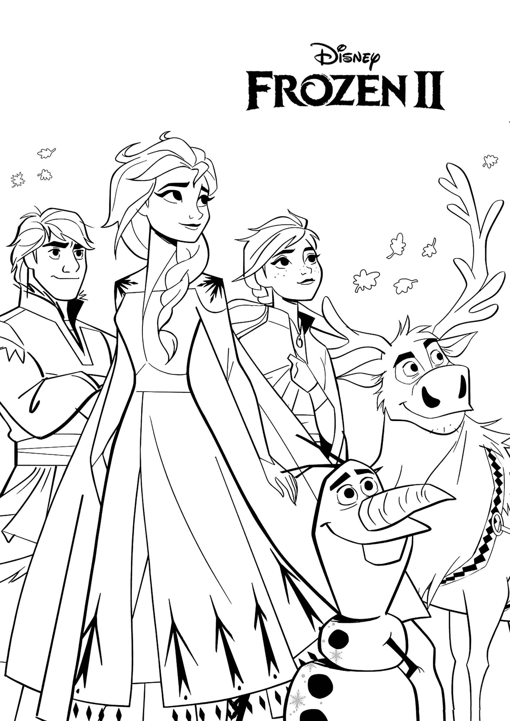 Frozen 2 To Print Frozen 2 Kids Coloring Pages