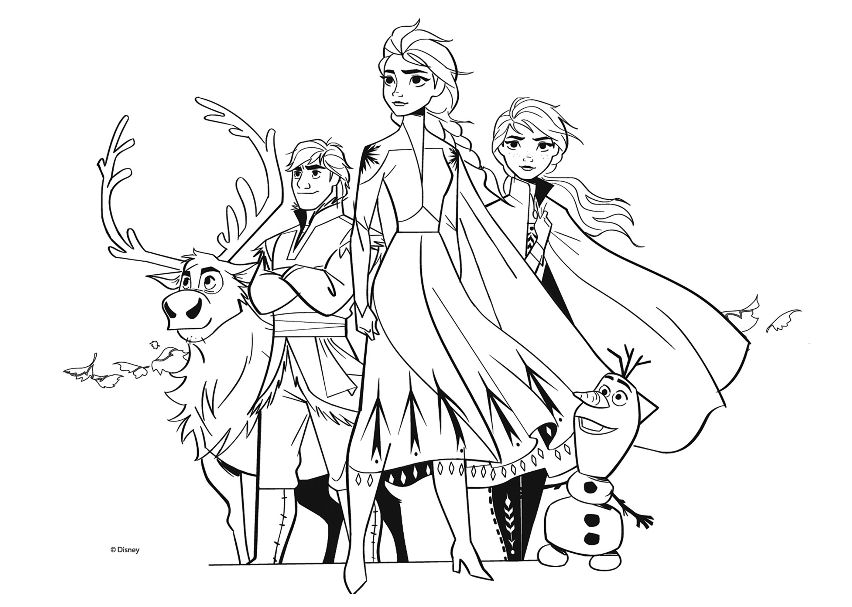 Frozen 2 to print - Frozen 2 Kids Coloring Pages