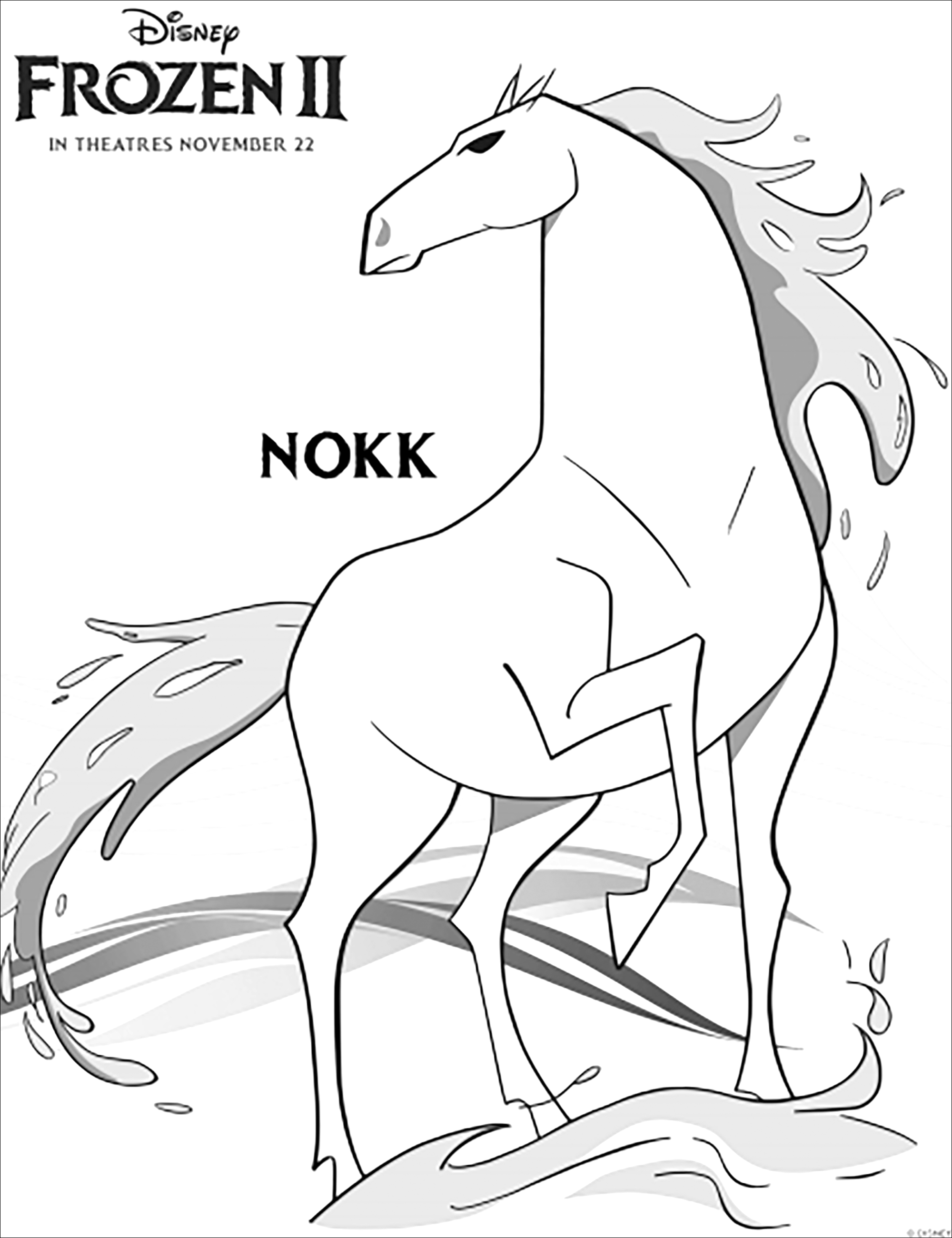 Frozen 2 Nokk Frozen 2 Kids Coloring Pages