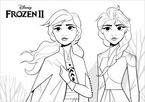 Coloring page frozen 2 for kids