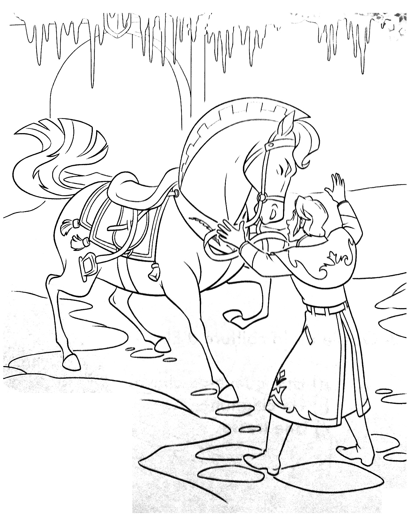 Frozen to color for kids - Frozen Kids Coloring Pages