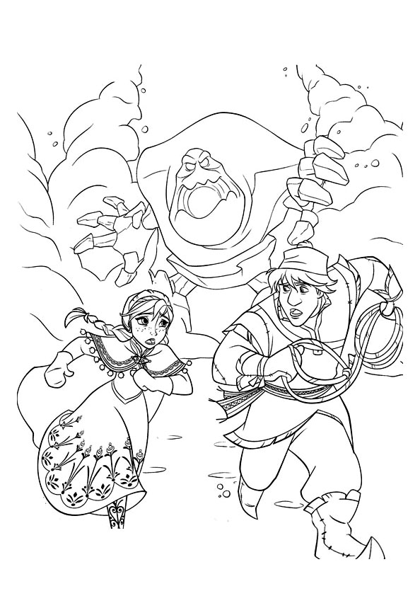 Frozen To Print - Frozen Kids Coloring Pages