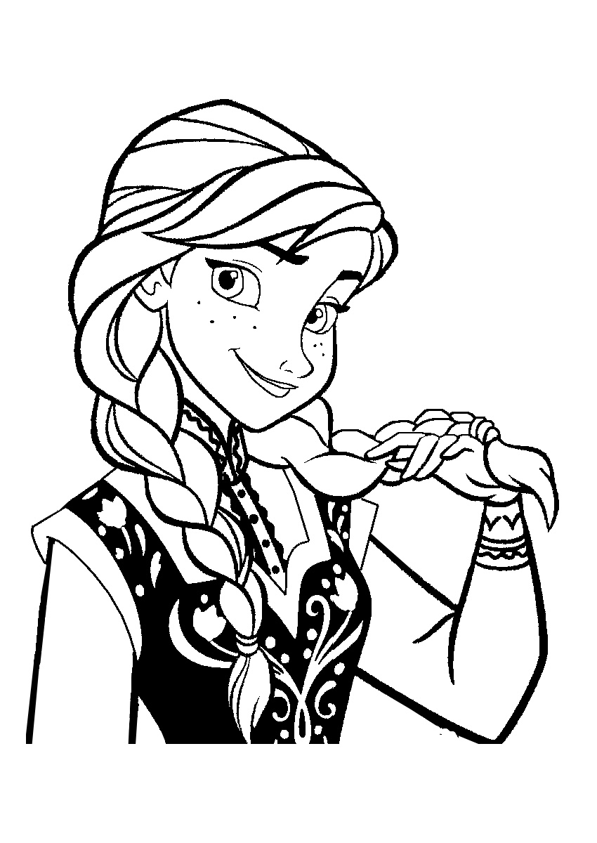Frozen to print for free - Frozen Kids Coloring Pages
