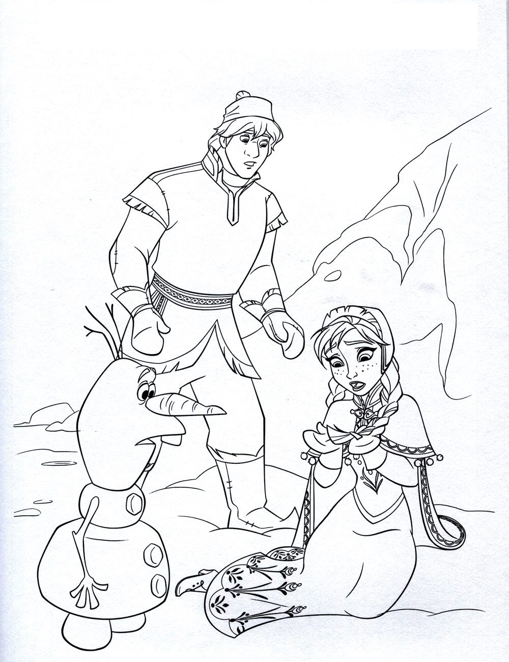 Frozen To Print Frozen Kids Coloring Pages