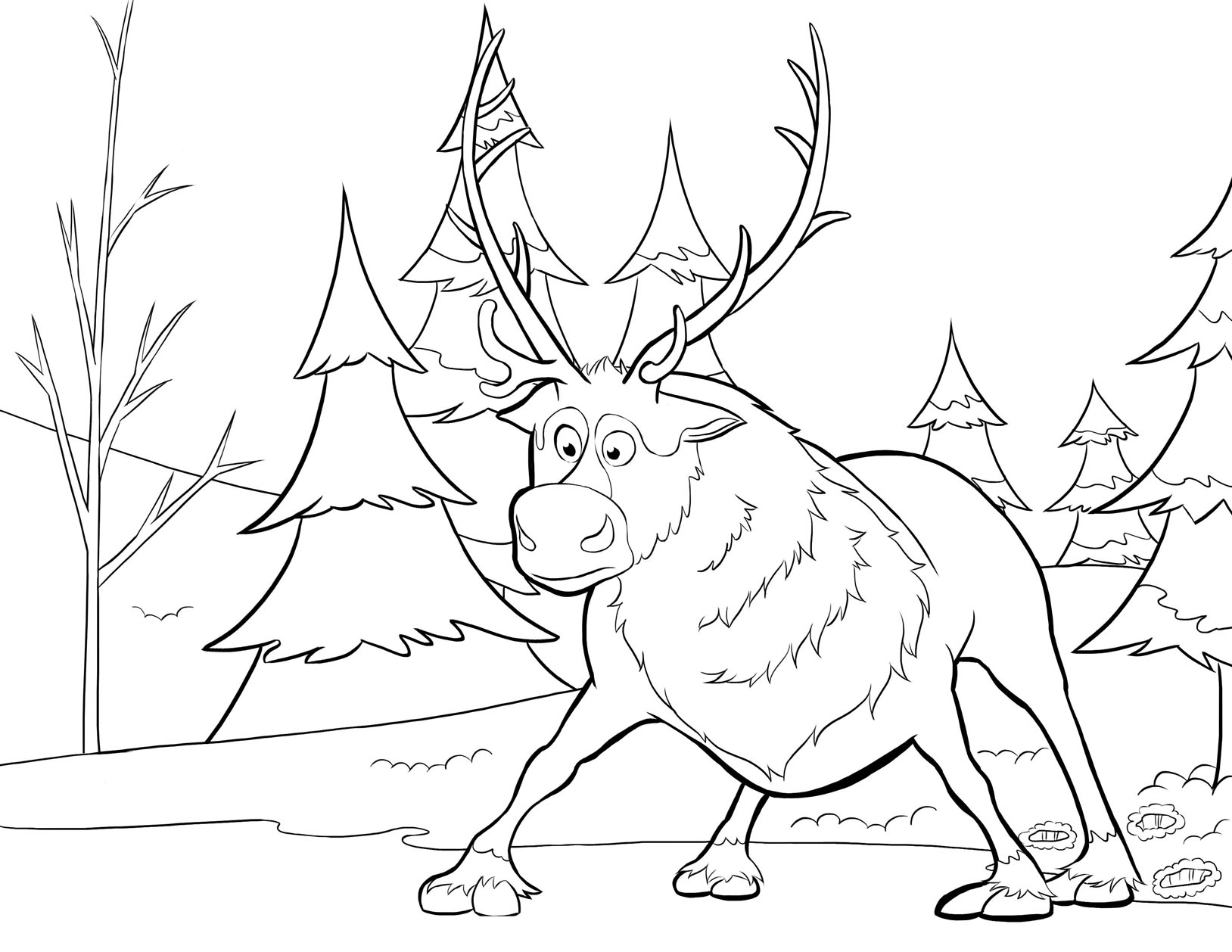 Kleurplaten Van Frozen.Frozen To Color For Kids Frozen Kids Coloring Pages