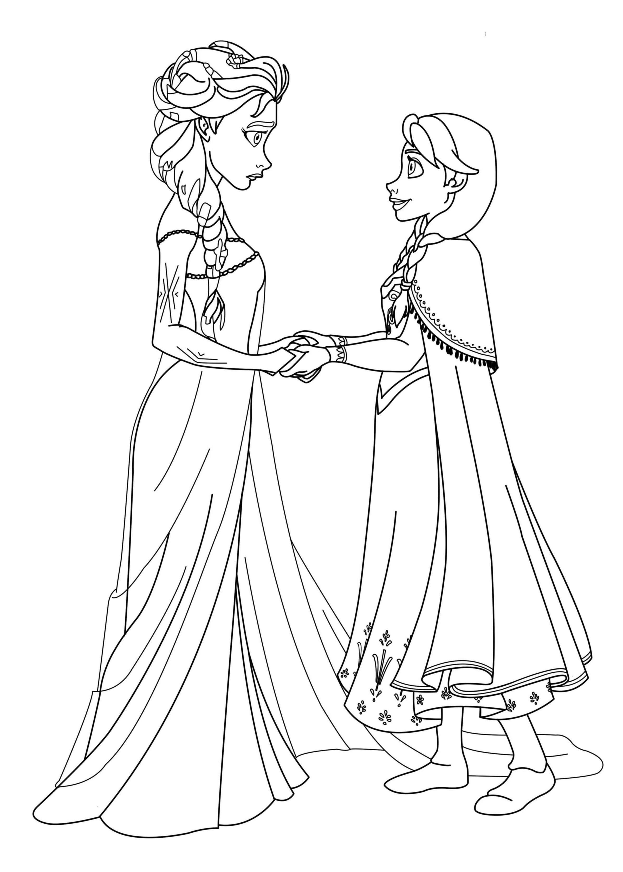 Frozen free to color for children - Frozen Kids Coloring Pages