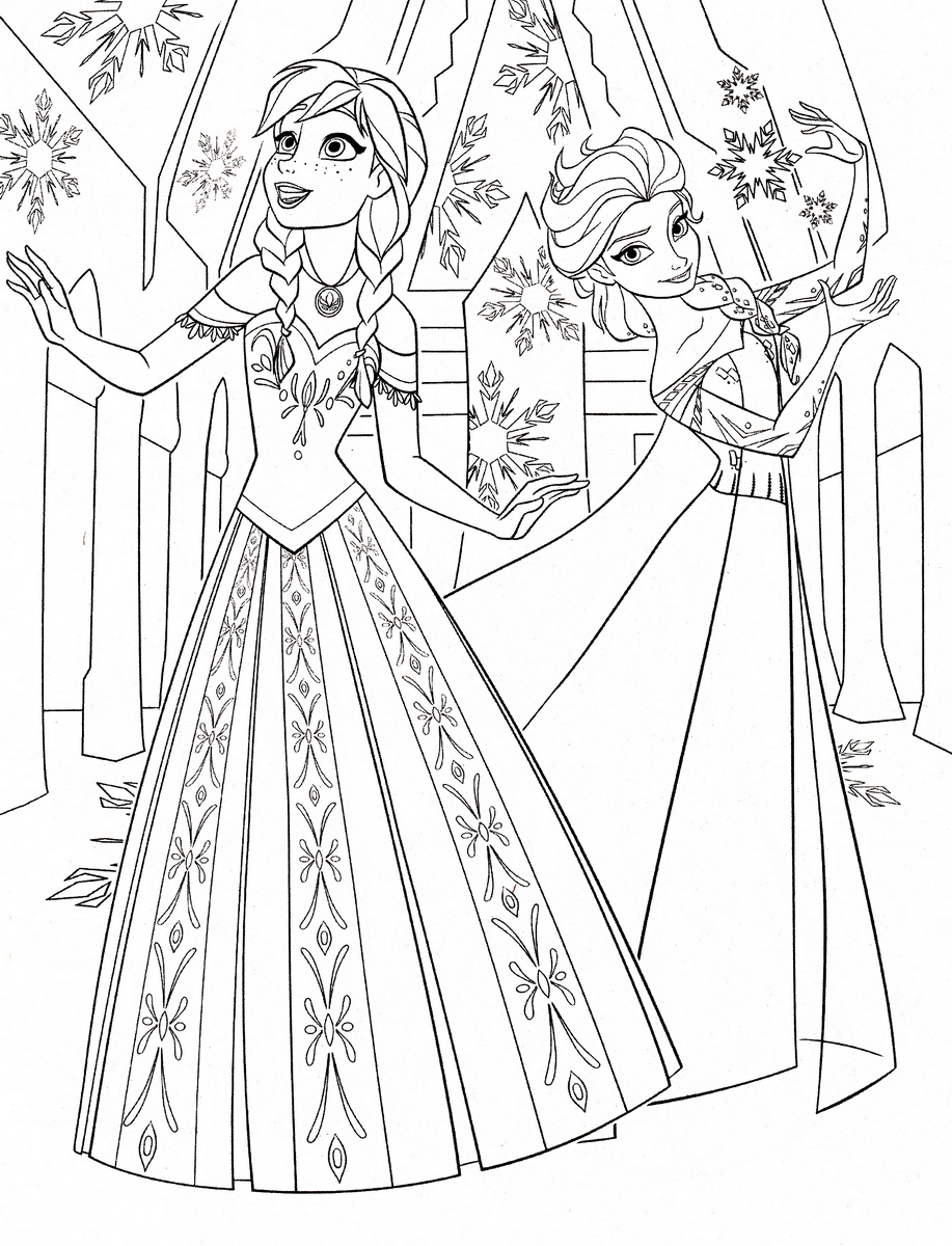 Frozen To Print For Free Frozen Kids Coloring Pages