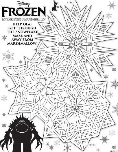 Simple Frozen Coloring Page To Print And Color For Free