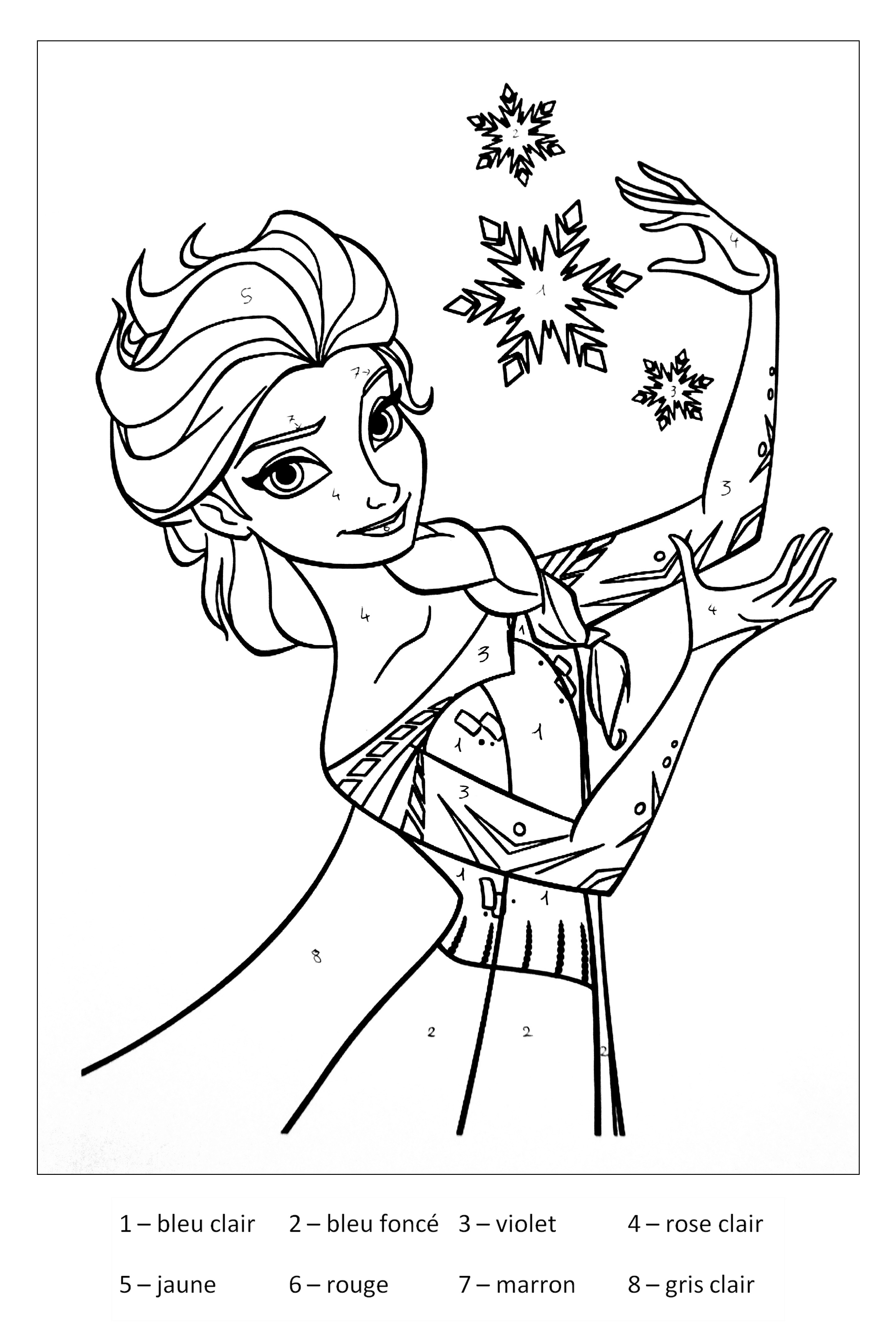 Frozen To Color For Kids Frozen Kids Coloring Pages