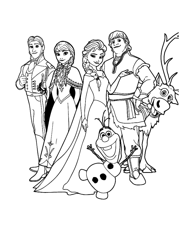 Frozen For Kids Frozen Kids Coloring Pages