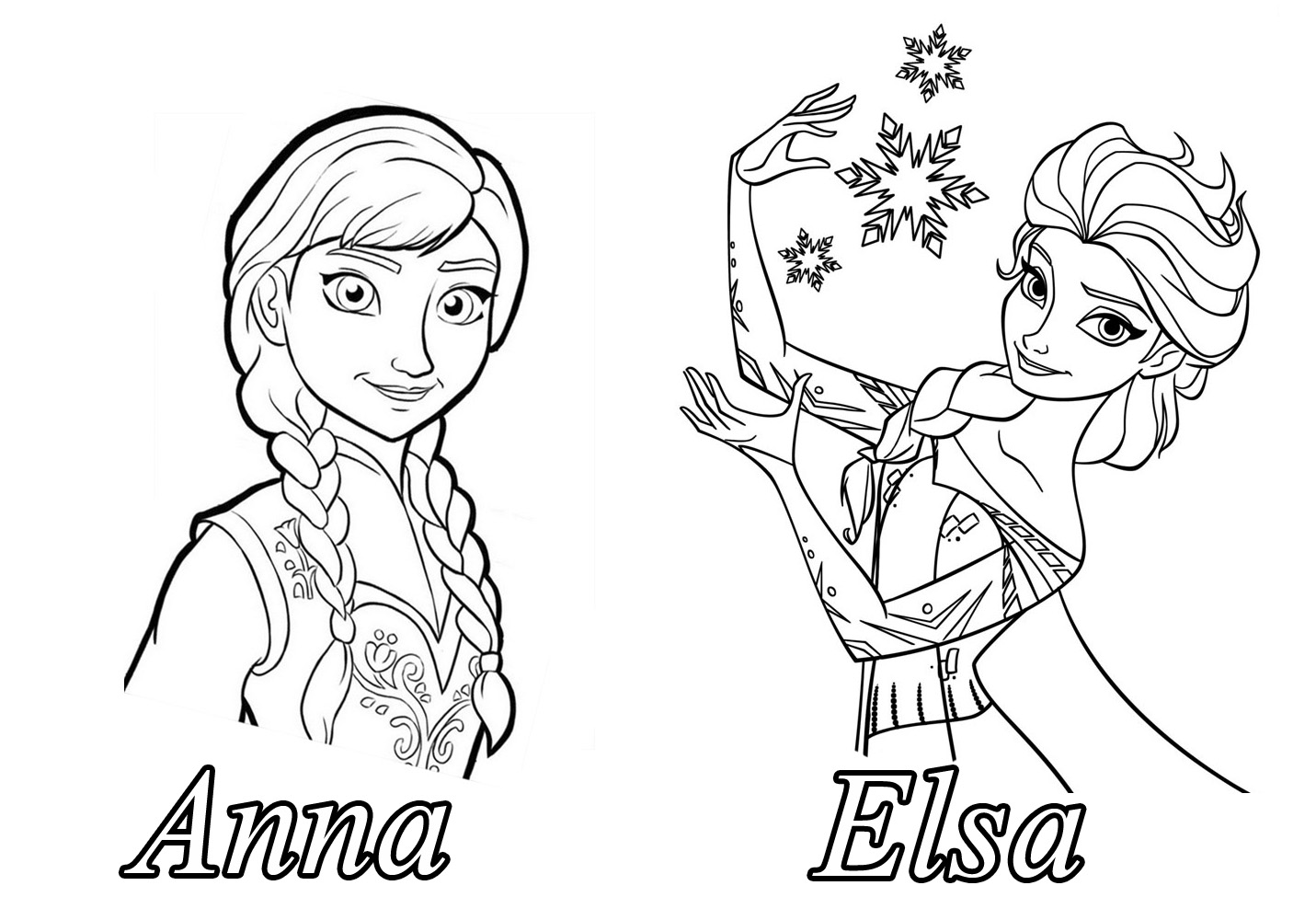 Frozen For Children Frozen Kids Coloring Pages Page 3