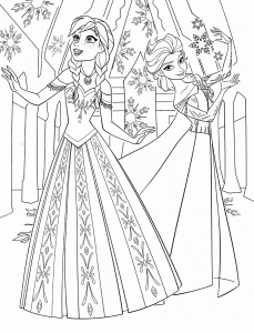Coloring page frozen to print for free
