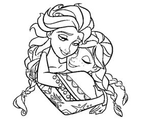 Coloring page frozen for kids