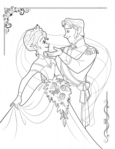 Coloring page frozen to color for children