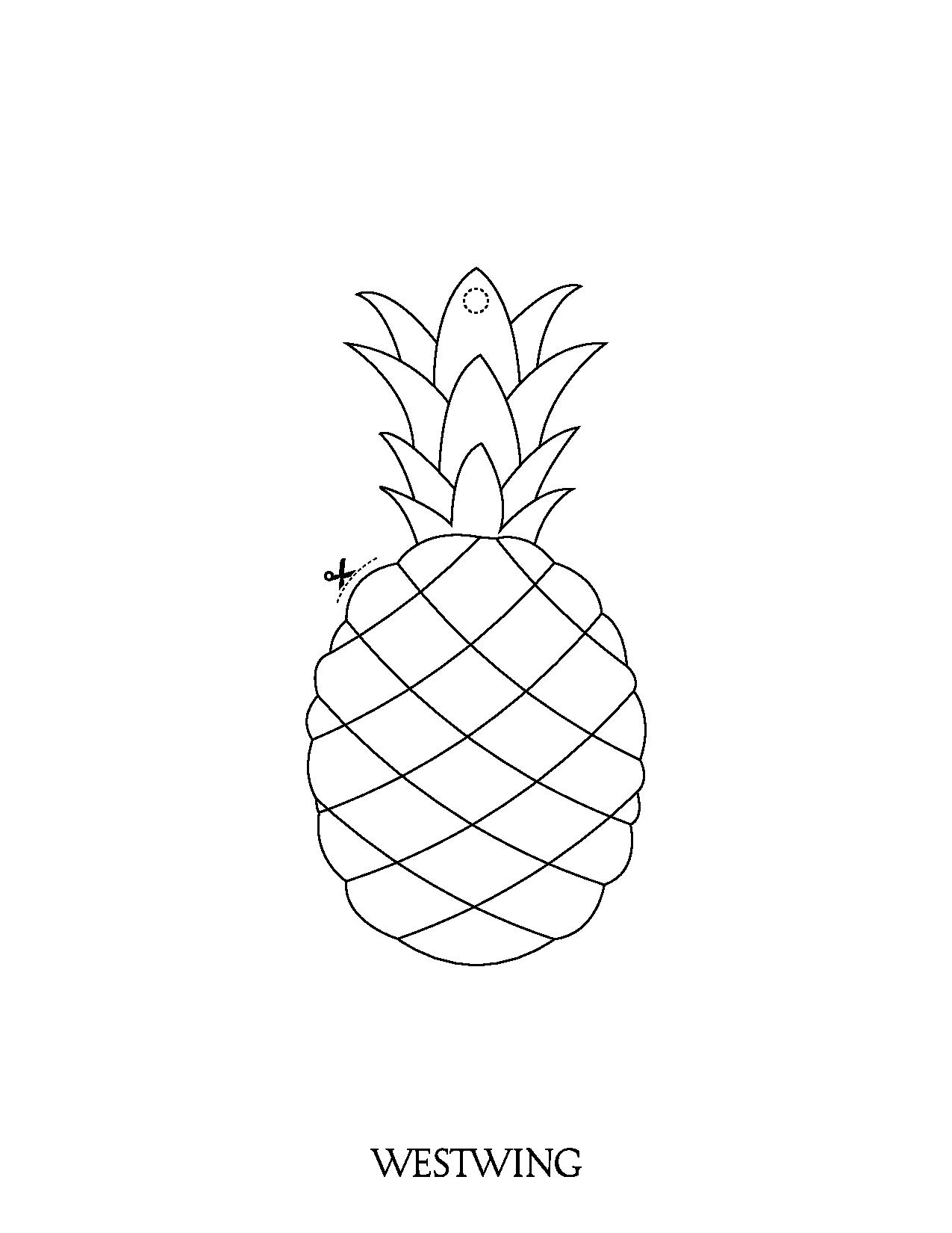 Cute free Fruits And Vegetables coloring page to download