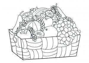 Coloring page fruits and vegetables to print