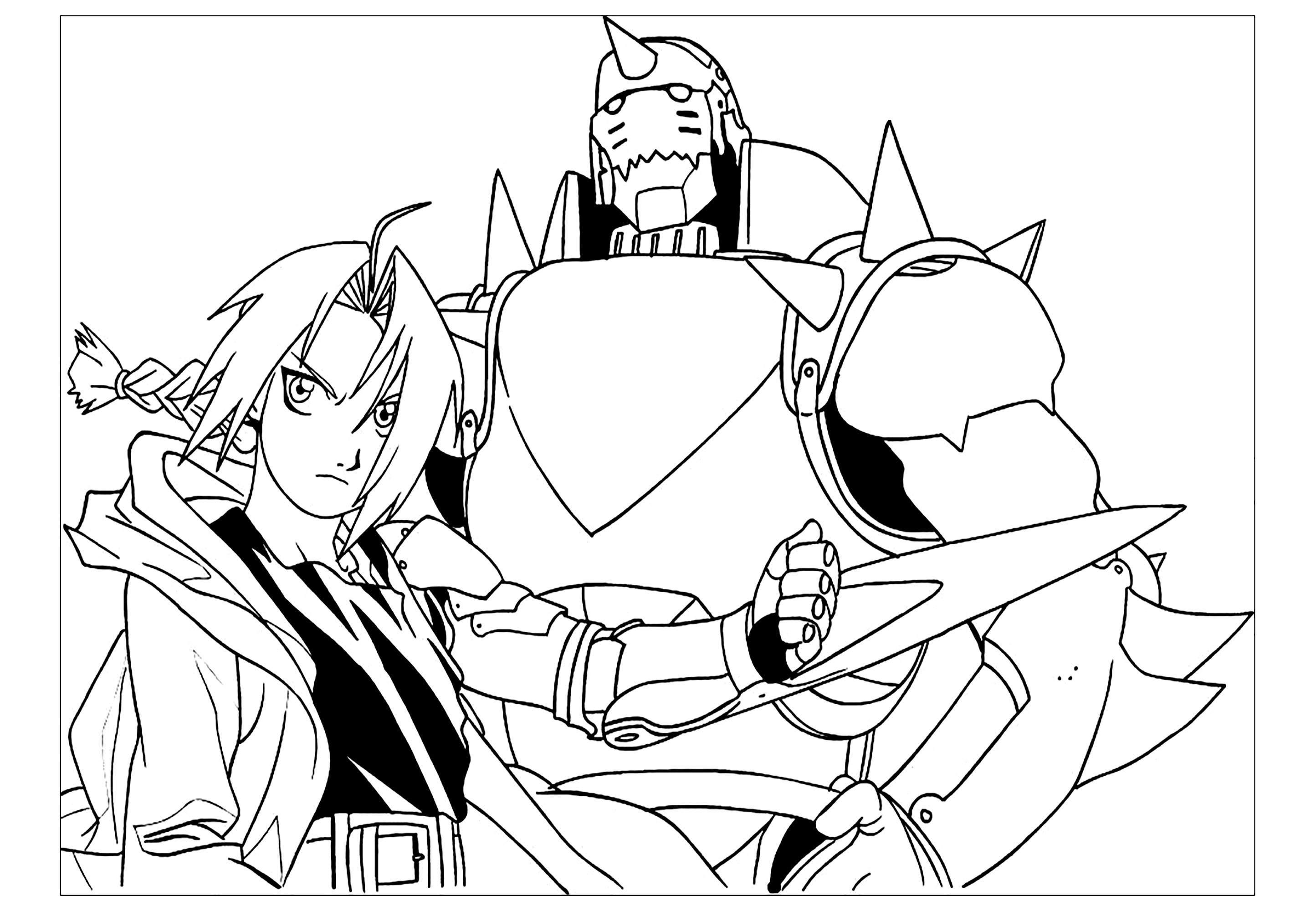 Full Metal Alchemist coloring page to download