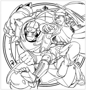 Coloring page full metal alchemist to download for free