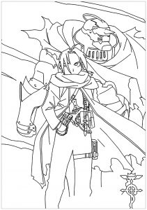 Coloring page full metal alchemist to print