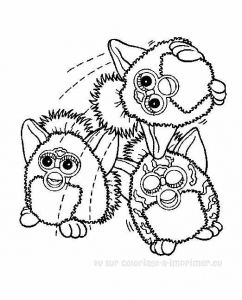 Coloring page furby to color for kids