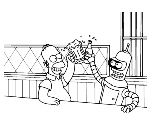Coloring page futurama to print for free