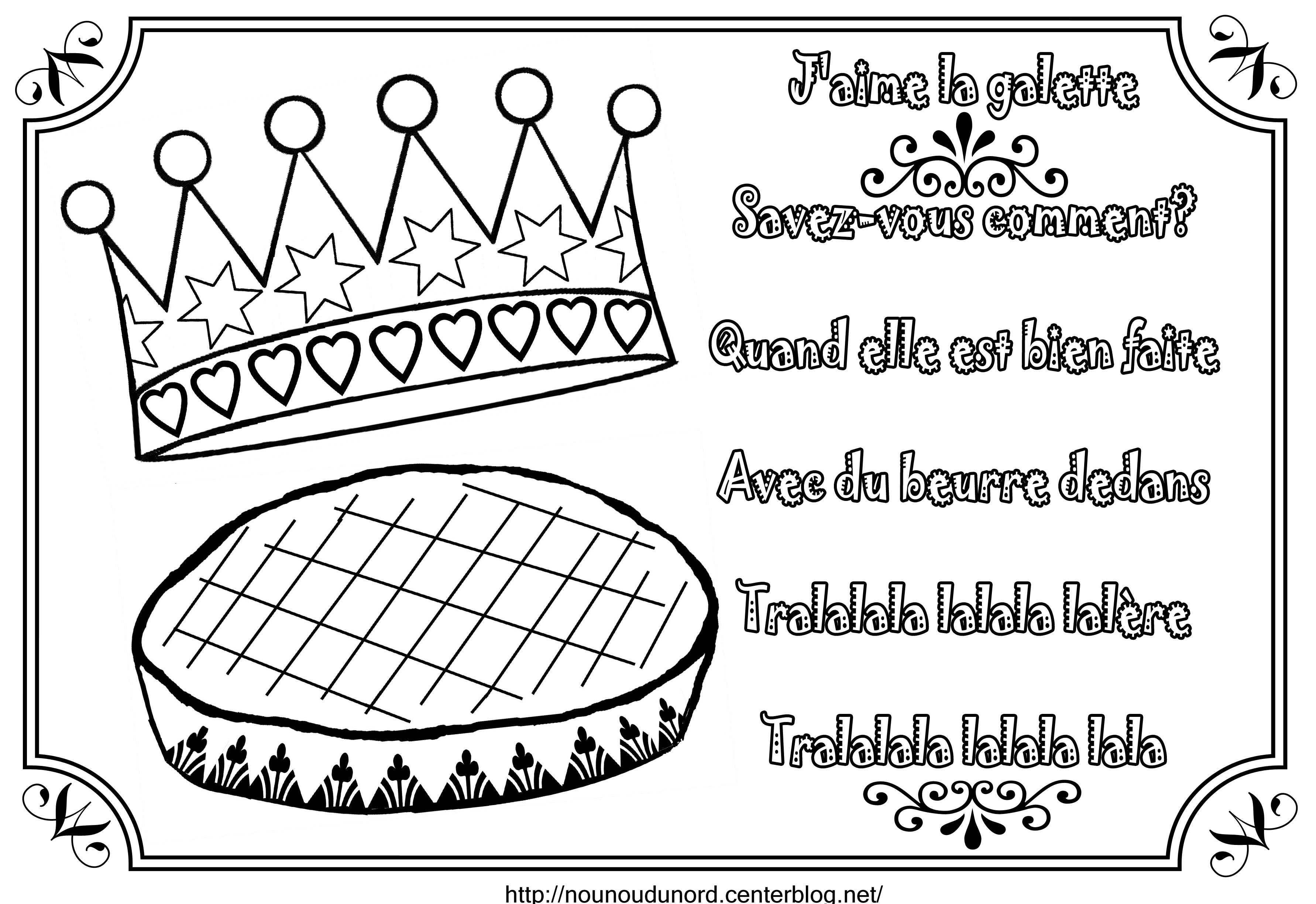 Printable Galette coloring page to print and color