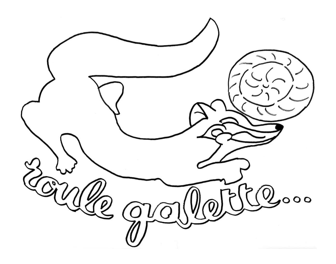 Simple Galette coloring page for children