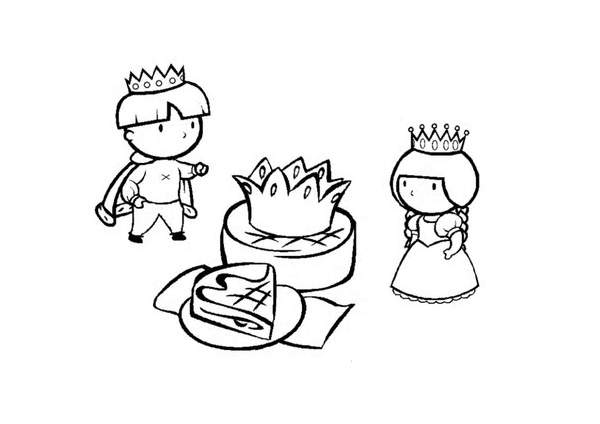Funny Galette coloring page
