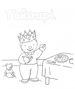 Coloring page galette to print for free