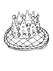 Coloring page galette to color for kids