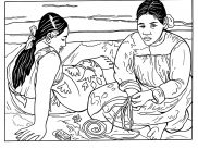 Paul Gauguin Coloring Pages for Kids