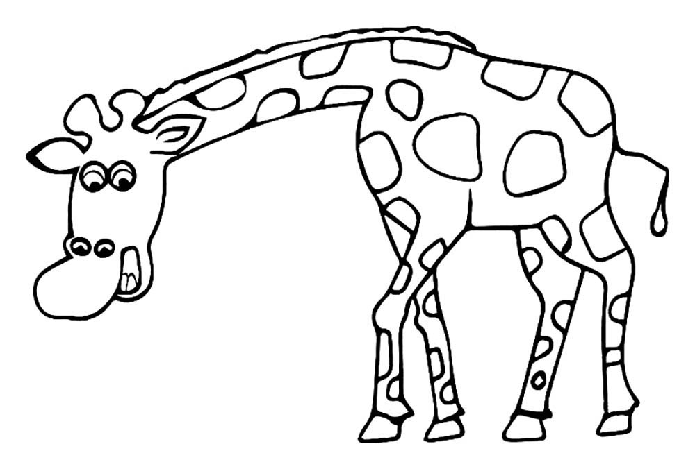 Giraffes To Download - Giraffes Kids Coloring Pages