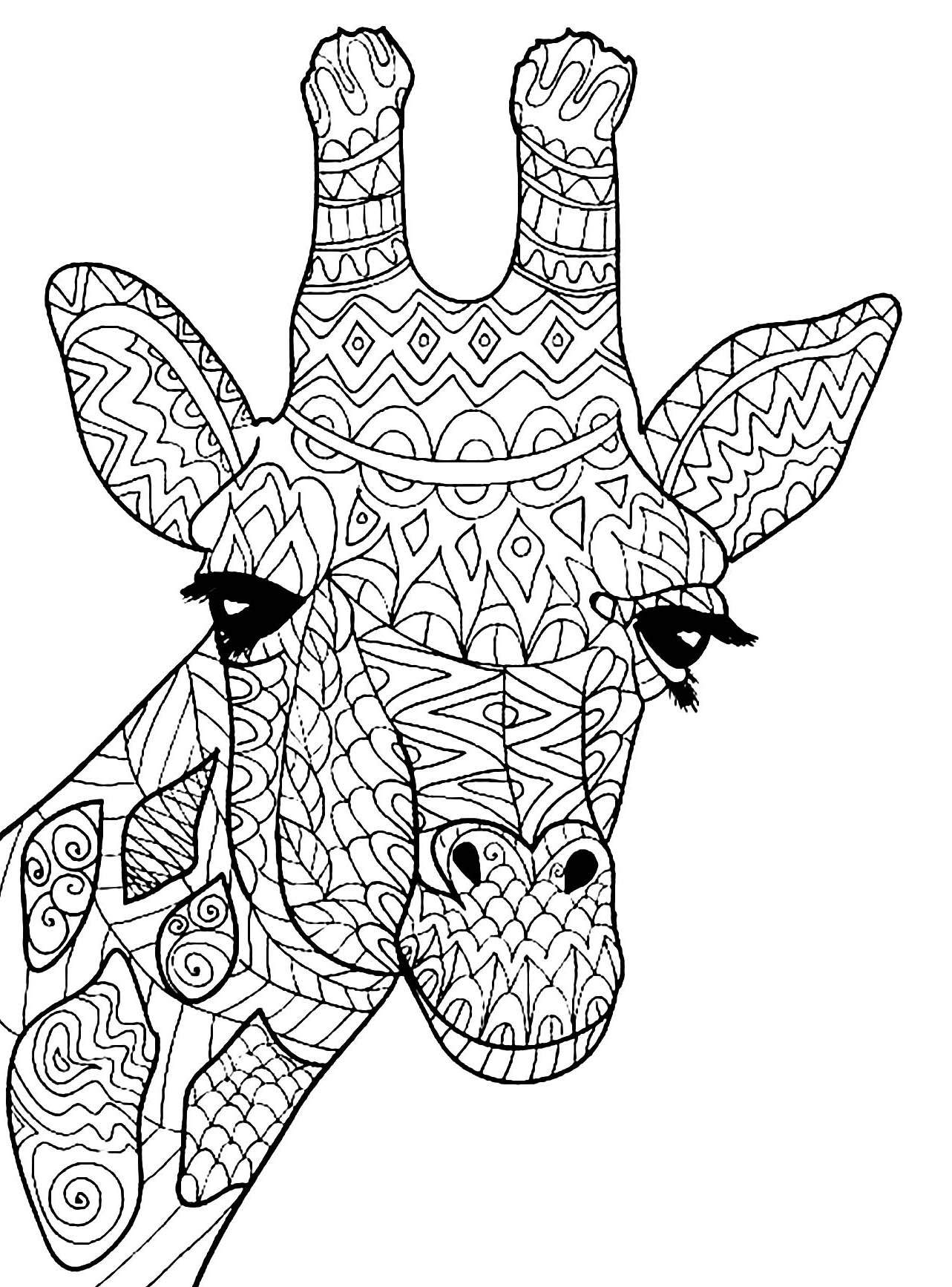 Giraffes for kids - Giraffes Kids Coloring Pages
