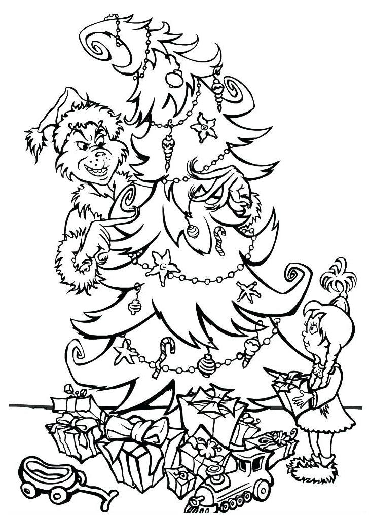 Grinch Coloring Pages and Book UniqueColoringPages | Grinch ... | 1024x730