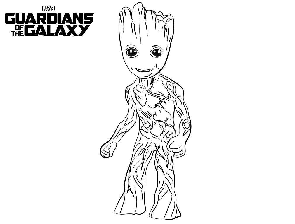 Guardians Of Galaxy Kids Coloring Pagesrhjustcolor: Coloring Pages Baby Groot At Baymontmadison.com