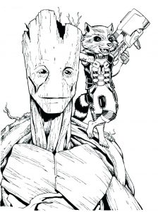 Guardians Of Galaxy Free Printable Coloring Pages For Kids
