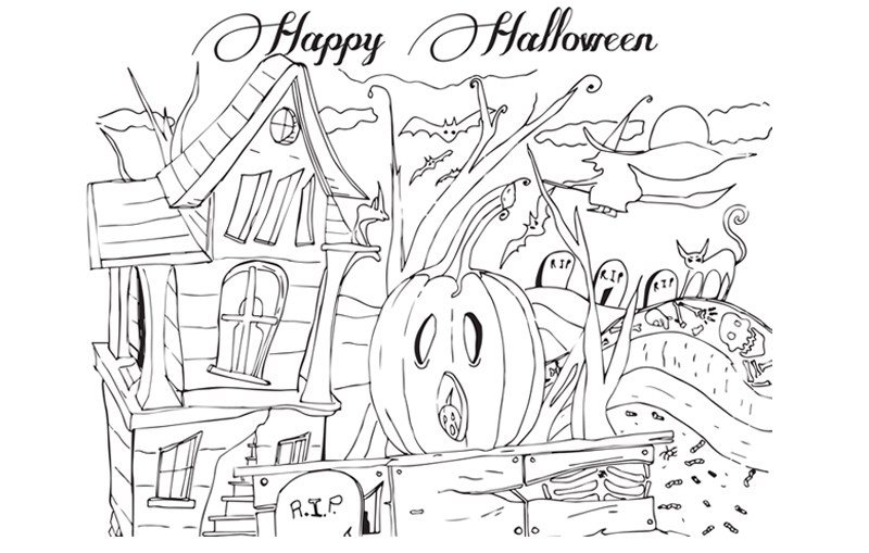 Printable Halloween Coloring Page To Print And Color