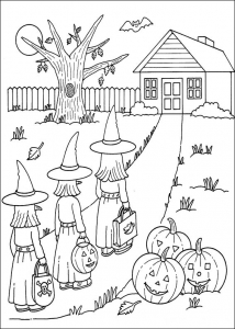 Coloring page halloween to print for free