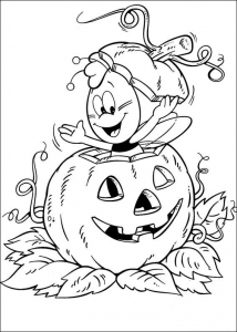 Coloring page halloween for children