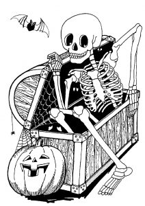 Coloring page halloween free to color for children