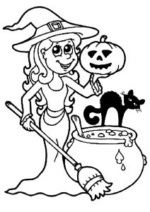 Coloring page halloween free to color for kids