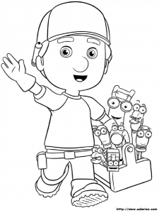 Coloring page handy manny for kids