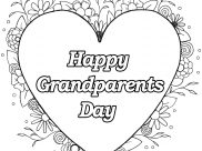 Happy Grandparents day Coloring Pages for Kids