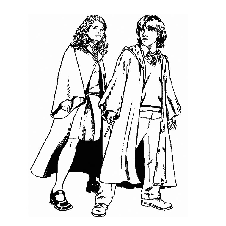 Free Harry Potter coloring page to print and color